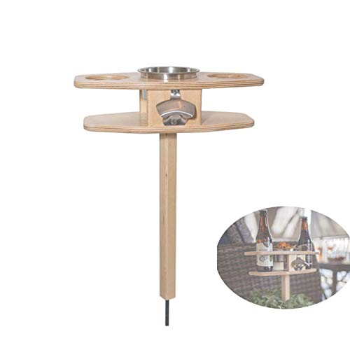 Outdoor Folding Wine Table,outdoor Portable Wine Table Folding Wine Table Wood Portable Folding Wine and Champagne Picnic Table (a)