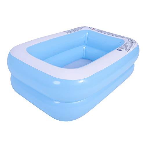 Piscina inflable, piscina infantil rectangular, piscina familiar para niños de sobresuelo, piscina de bolas marinas, para jardín familiar, patio trasero al aire libre, verano