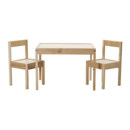 IKEA Children's Kids Table & 2 Chairs Set Furniture (1)