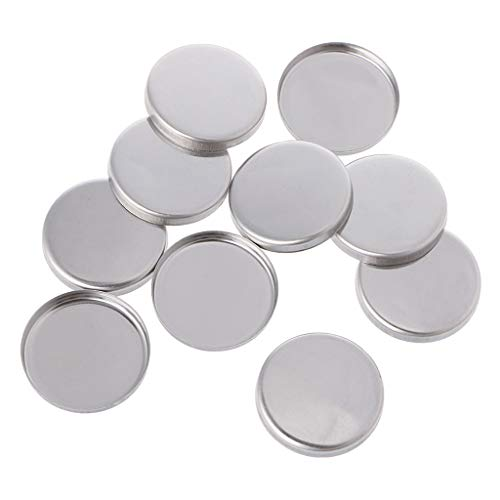 MB-LANHUA 10 pièces Palettes de Maquillage vides Palette de fards à paupières Poudre Pans Pot Storage Réactive aux aimants 1#