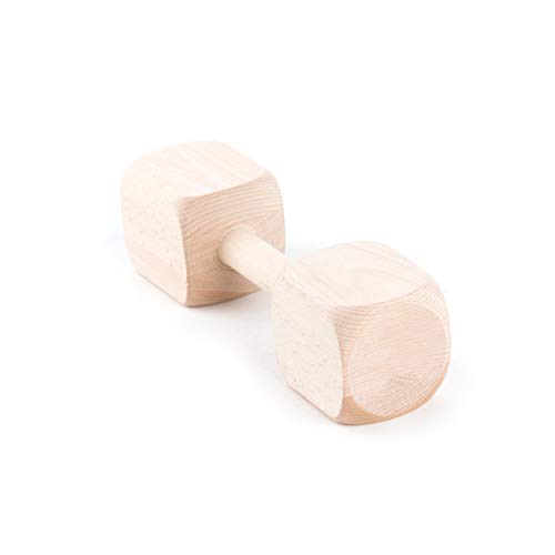Julius-K9 26265E Hard Wood Dumbbell - from One Piece, 650 g