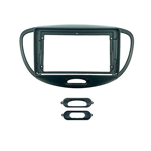 2 Din 9 pollici Installazione autoradio DVD GPS mp5 PC Cornice in plastica ABS per pannello Cornice adatta per HYUNDAI I10 2008~2011 Kit di montaggio su cruscotto