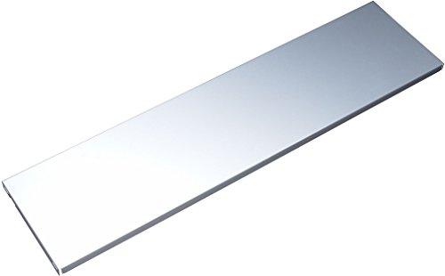 Element System 10700-00010 Stahlfachboden Regalboden / 2 Stück/B x T = 80 x 20 cm/weißaluminium/für Wandschiene und Pro-Regalträger