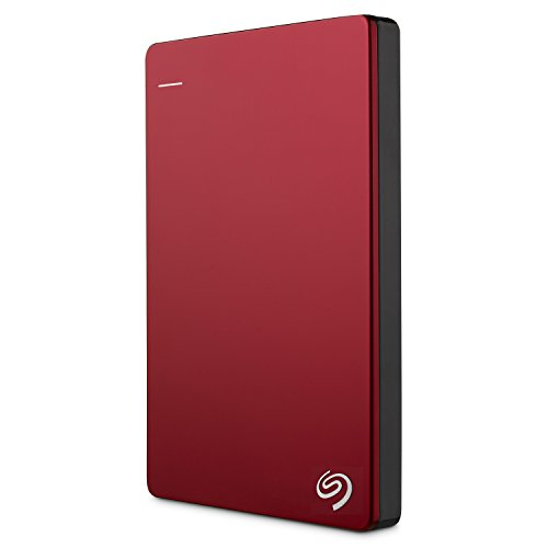 Seagate Backup Plus Slim, 2 TB, tragbare externe Festplatte, 2.5 Zoll, USB 3.0, PC, Notebook & Mac, rot, Modellnr.: STHN2000403