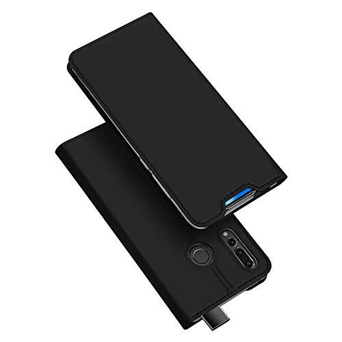 DUX DUCIS Hülle für Honor 9X, Leder Flip Handyhülle Schutzhülle Tasche Case mit [Kartenfach] [Standfunktion] [Magnetverschluss] für Huawei Honor 9X (Schwarz)