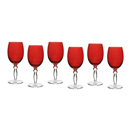 Set calici Pasabahce in vetro colorato, 6 pezzi Rosso
