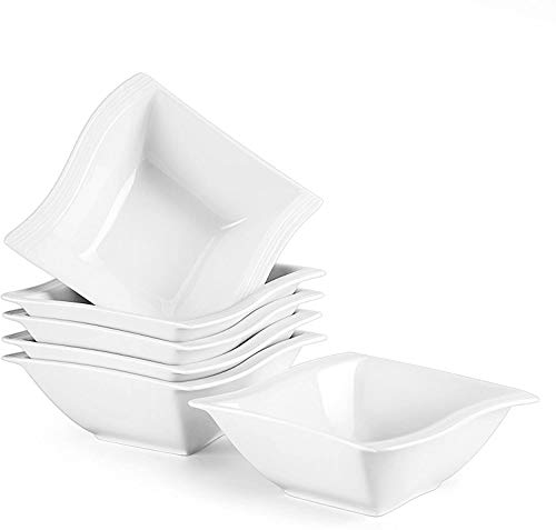MALACASA, Serie Flora, 12 TLG. 5,75 Zoll Porzellan Schüsseln Set Salatschüsseln DessertSchälen Rührschüsseln für 12 Personen
