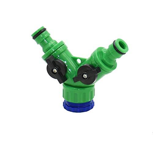 NEBSM Divisor de Agua de jardín de 2 vías Hembra 1/2 3/4 Manguera de jardín y Divisor Splitter Riego Interruptor Ajustable 1pcs Jardinería Riego (Color : A)
