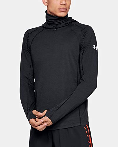 Under Armour Men's Swyft Face Hoody, Black (001)/Reflective, X-Large