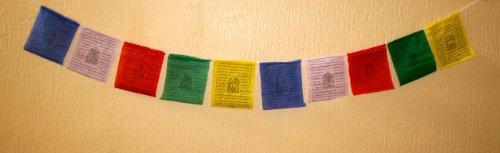 Tibetische Gebetsfahnen für Frieden, Reichtum, Mitgefühl, Reinigung und Weisheit (M)
