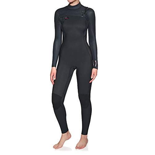 O';Neill Dames Hyperfreak 3/2mm Wetsuit met Chest Zip Zwart