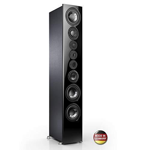 Nubert nuVero 170 Exclusiv Standlautsprecher | Lautsprecher für Stereo | HiFi Qualität auf höchstem Niveau | Passive Standbox mit 4 Wege Technik Made in Germany | Lautsprecher Schwarz | 1 Stück