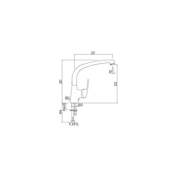 Tres Griferia – Monomando Fregadero Vertical (7044802)