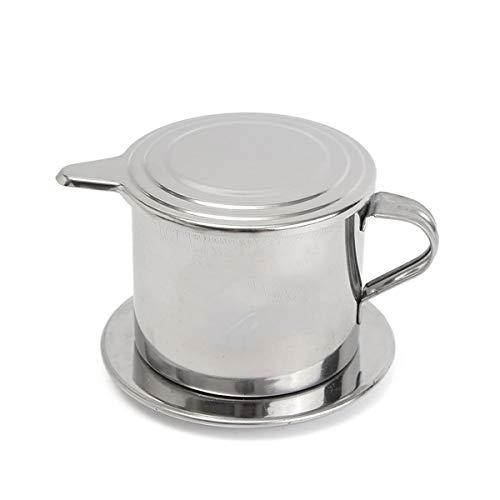 Timegoing vietnamesischer Kaffeefilter, Edelstahl, vietnamesischer Kaffee, edelstahl, weiß-y1194, 50 ml
