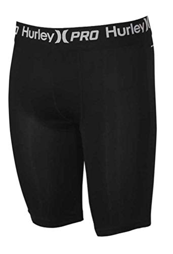 Hurley Men's Nike Dri-Fit 16 Inch Baselayer Boxer Briefs, Black, M