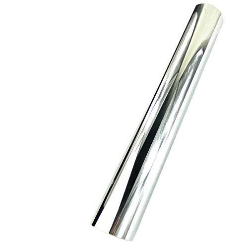 Hoja de vinilo adhesivo permanente para siluetas de vasos, camafeo y cortadora de cricut, 30 x 152 cm, color plateado