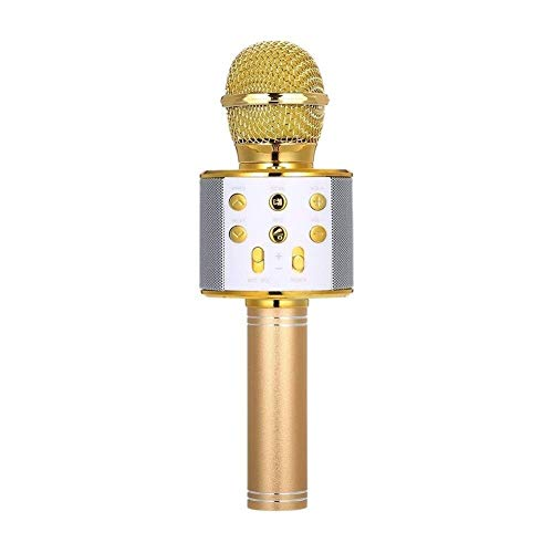 Microfoon BT Wireless Speak Handheld Karaoke Mic Portable Music Player Singing Recorder KTV Recording Microphone Kit For Crafting DIY