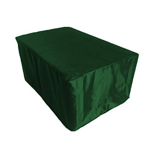 IJNBHU Funda Mesa Jardin, Cubierta de Exterior Funda, Copertura Impermeable para Mesas Rectangular, Cubierta de Exterior, Funda Protectora, 210D Oxford Verde, Muebles230*165 * 70cm