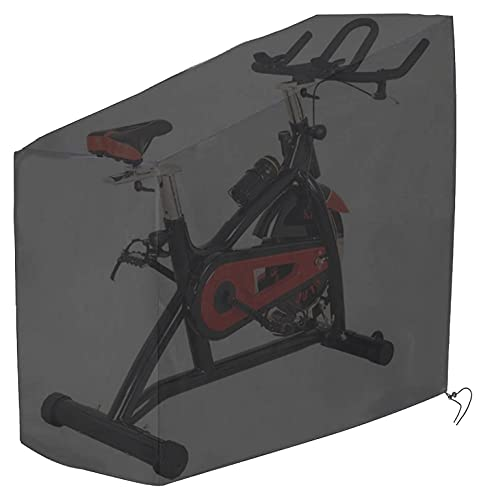 Tonhui Exercise Bike Cover, Heavy Duty Waterproof Oxford Cloth Vertical Protective Cover
