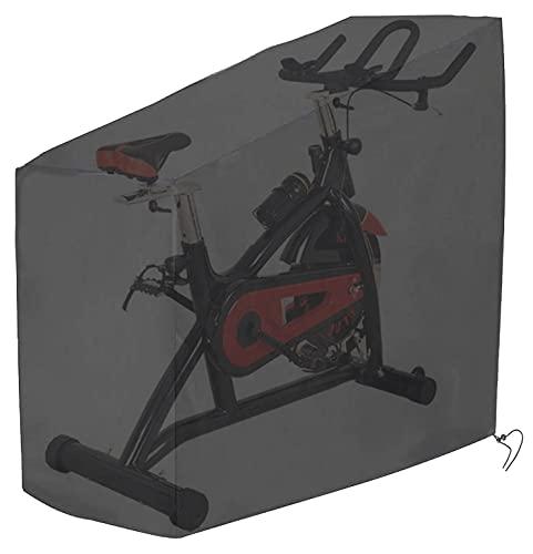 Tonhui Cubierta para bicicleta estática Cubierta protectora para bicicleta de fitness Cubierta para bicicleta interior Lona Impermeable a prueba de polvo Garaje para bicicletas para bicicleta estática