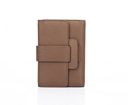 Portemonnee van echt leer dames mode leer portemonnee lang met ritssluiting en fotovak