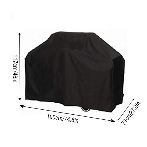 Jun Black Waterproof BBQ Cover Heavy Duty Barbecue Cover Outdoor Grill Anti Dust Bag Barbecue Tools Accessories Cover,D