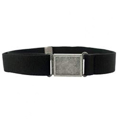 Dapper Snappers Made in USA Boys Big Kids Elastic Stretch Belt with Easy - Magnetic Buckle, Black