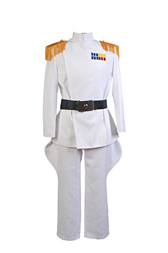 Fuman Imperial Officer White Grand Admiral Uniform Cosplay Kostüm Herren Weiß S