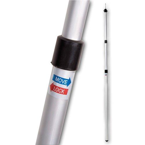 Aluminium Zeltstange - mit Spitze - Ösen für Zeltschnur - teleskopierbar 100-230 cm - 3 Teile - leicht - stabil - Ersatz Gestänge für Zelt Vorzelt - Camping Zubehör - Teleskopstange - Aufstellstange