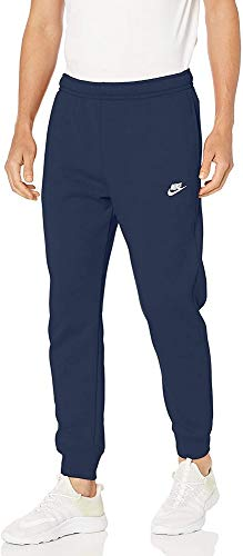 NIKE M NSW Club Jggr BB Pantalones de Deporte, Hombre, Midnight Navy Midnight Navy White, S