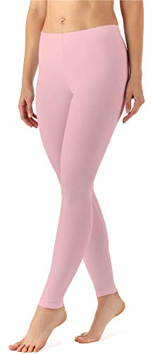 Merry Style Damen Lange Leggings aus Viskose MS10-143 (Puderrosa, L)