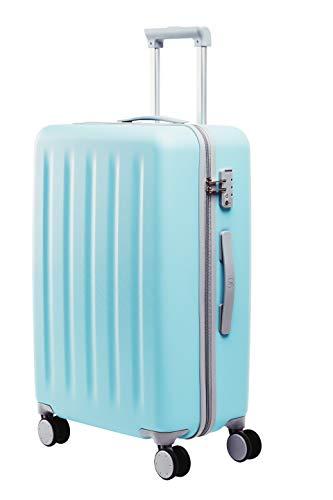 90FUN mittelgroßer Koffer, Leichter Hartschalen Trolley mit TSA-Zahlenschloss, 67,5 x 44 x 25 cm, Größe M, Türkis