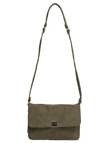 Pieces Pcliede Cross Body Bag, Sacs bandoulière femme, Grün (Deep Lichen Green), 5x12x20 cm (B x H T)