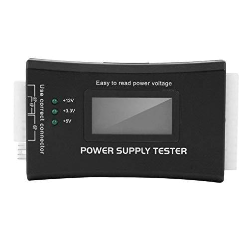 Elenxs ATX SATA BTX ITX Fuente de alimentación TFX Herramienta de Reparación 20 / 24Pin de Tester, Detector de Potencia, 20/24 Pines probador del Detector del LCD Pantalla de Ordenador anfitrión