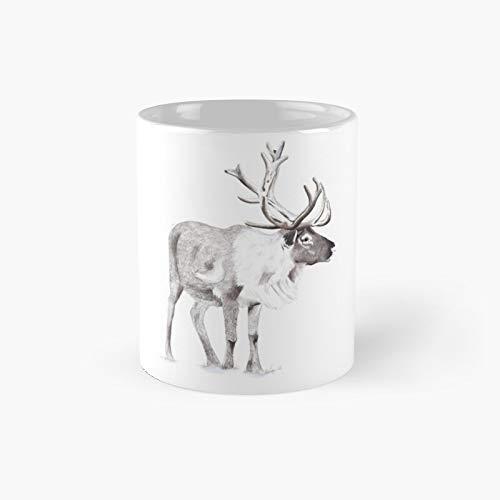Tazza classica con renna | miglior regalo divertente tazze da caffè 325 ml
