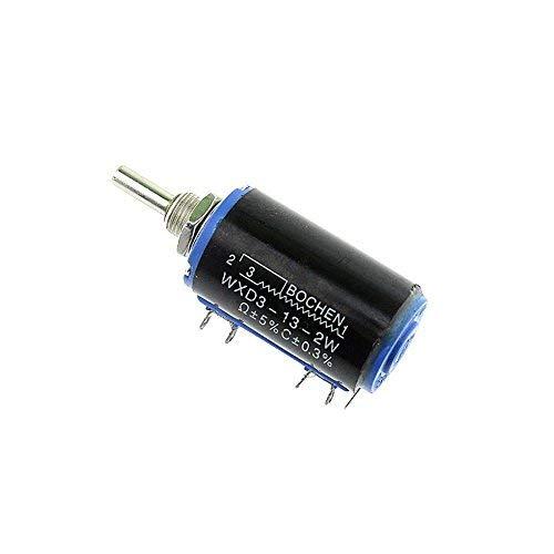 Potenciómetro Bobinado Rotativo de Precisión Multivuelta 2W WXD3-13 (100 ohm)
