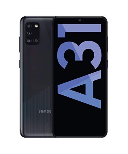 Samsung Galaxy A31 - Smartphone 6.4' Super AMOLED (teléfono 4GB RAM, 64GB ROM), Negro [Versión española]