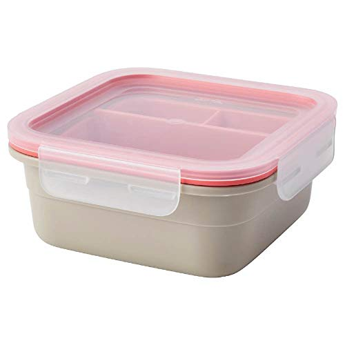 IKEA IKEA 365+ Lunch box with inserts, square/beige light red, 750 ml