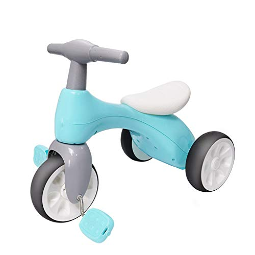 Asdf Baby Balance Bikes Bicycle for 1-3 Year Old Girl Boy, Toddler Tricycle No Pedals Ride-On Indoor Outdoor Toys Best Toy Birthday Gifts,A