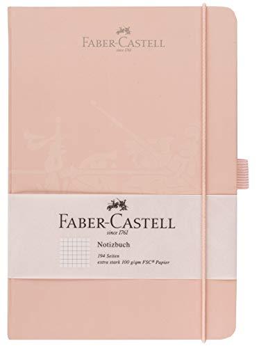 Faber-Castell 20502 - Notizbuch, 145 x 210 mm, FSC-Mix, kariert, Rose, 1 Stück