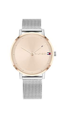 Tommy Hilfiger Damen Analoger Quarz Uhr mit Edelstahl Armband 1782151