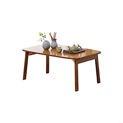 HCYTPL Inklapbare bijzettafellap, Desk Opvouwbare koffietafel, laptop/tv/bed-dienblad, bamboe, instelbaar vak, gaming schrijven, ondersteuning van maximaal 18 inch laptop