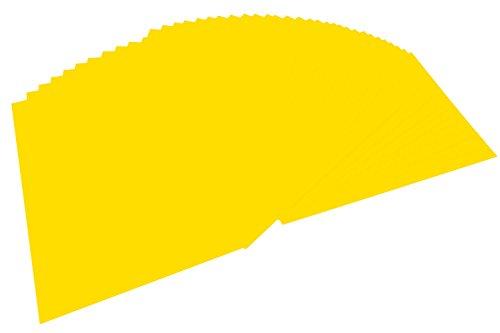 folia 6414 - Tonpapier bananengelb, DIN A4, 130 g/qm, 100 Blatt - zum Basteln und kreativen Gestalten von Karten, Fensterbildern und für Scrapbooking