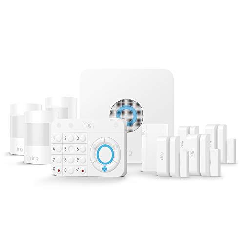 Ring Alarm Kit de 10 piezas (1.ª generación) – sistema de seguridad para el hogar con vigilancia asistida opcional – sin compromiso a largo plazo– compatible con Alexa