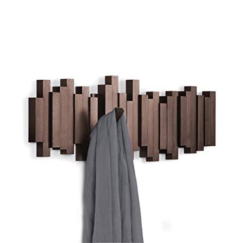XYGG La Puerta de la suspensión detrás del Gancho Creativo de la Pared de la decoración de la Pared del Gancho del Gancho del Gancho Cubre la Percha (Color : Brown)