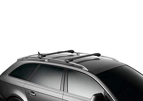 Thule WingBar Edge 90401475 Komplett System inkl. Schloss für VOLKSWAGEN Golf Variant/Sportcombi (VII) – Der leise und sichere Lastenträger