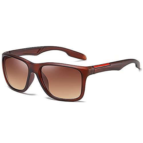 ShSnnwrl Gafas De Moda Gafas De Sol Gafas De Sol Cuadradas para Hombre Gafas De Sol para Hombre Gafas De Sol Vintage para Hombre Té Retro