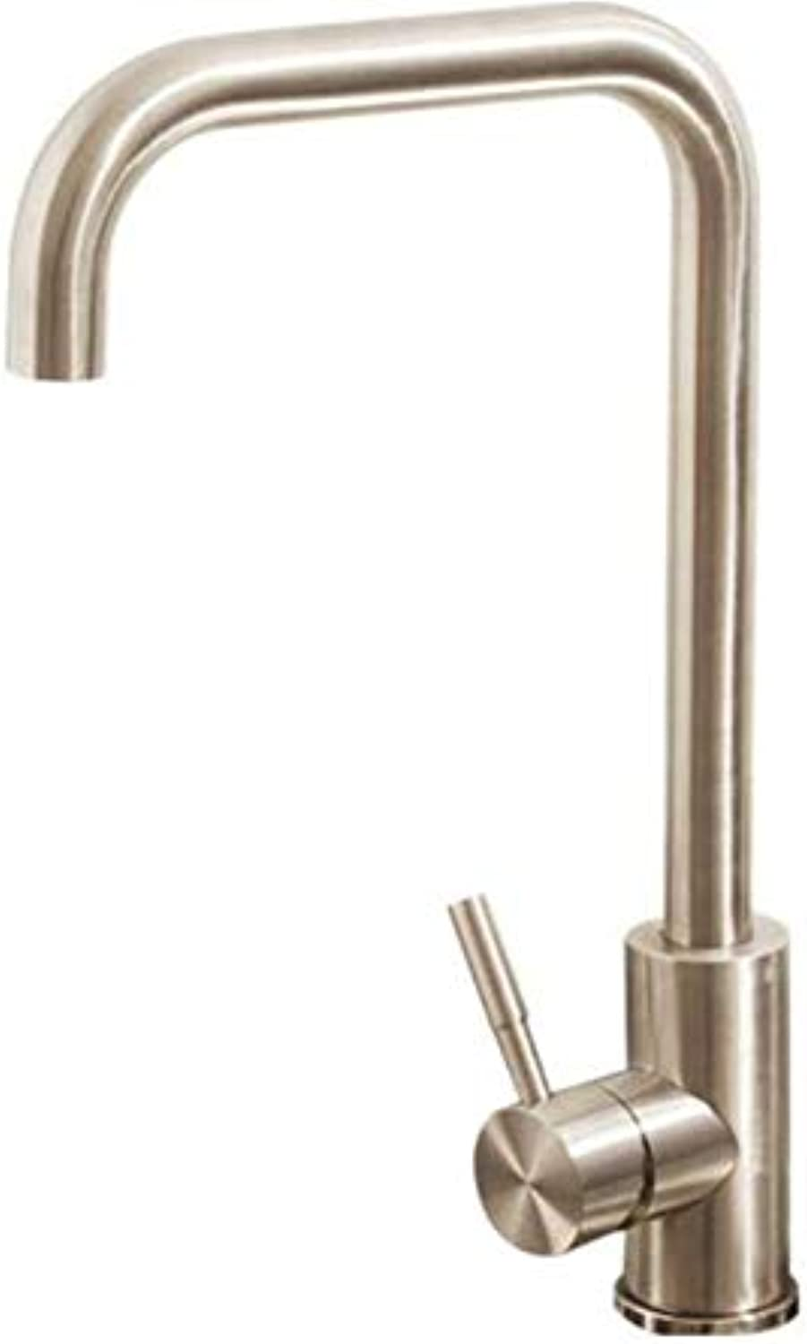 Taps Kitchen Sinktaps Mixer Swivel Faucet Sink Kitchen Faucet Hot and Cold 304 Stainless Steel Sink Sink
