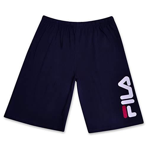 pantaloncini uomo fila Fila Pantaloncini Sportivi con Logo Gamba Classica per Uomo 5X più Marina Militare
