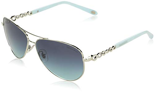 Tiffany TF3049B 6001-9S Silver TF3049B Pilot Sunglasses Lens Category 2 Size 58